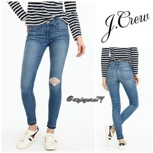 """NWT, J.Crew, 8"""" Toothpick Jean in Newcastle Wash"""